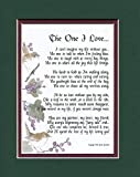 #76 A Poem Gift for a husband wife boyfriend girlfriend (green over burgundy)