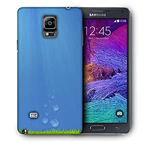 Snoogg Green Grass Printed Protective Phone Back Case Cover For Samsung Galaxy NOTE 4 / NOTE IIII