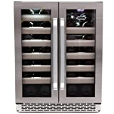 Whynter BWR-401DS Elite 40-Bottle Seamless Stainless Steel Door Dual Zone Built-in Wine Refrigerator