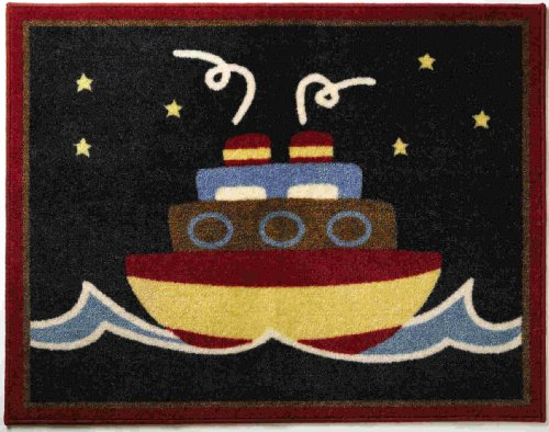 Pem America Nautical Patch 30 x 30 Rug, Denim (Discontinued by Manufacturer)