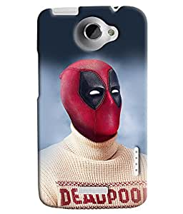 Blue Throat Deadpool Hero Printed Designer Back Cover For HTC One X