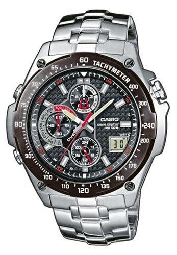 Casio WVQ-570DBE-1AVER Men's Wave Ceptor Radio Controlled Analogue Bracelet Watch