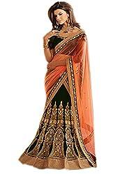 Try n get's Black Color Georgette Designer lehenga
