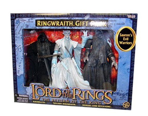 Lord Of The Rings Return Of The King Action Figure 3Pack Saurons Evil Warriors Includes Ringwraith Twilight RingwraithB0000DJX72