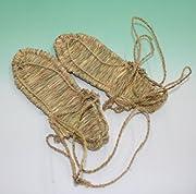 コスプレ用 本物の草鞋 & わらじ 100% 稲わら (senngoku) 男性サイズ