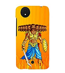 Illustration Of Ravana 3D Hard Polycarbonate Designer Back Case Cover for Micromax Android A1 :: Micromax Canvas A1 AQ4502