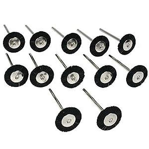 12 Stiff Bristle Wheel Rotary Brushes Buffing Polishing