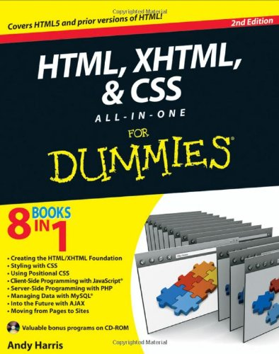 HTML, XHTML and CSS All-In-One For Dummies 0470537558 pdf