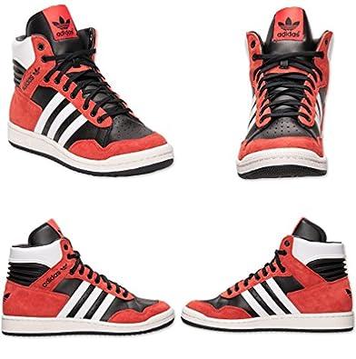 adidas Originals Mens Pro Conference Hi 10 M US Black/Hi Res Red/White