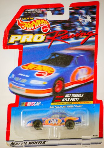 1997 - Mattel - Team Hot Wheels - Pro Racing Series - NASCAR - Kyle Petty / Pontiac Grand Prix - Rare Petty Card - 1:64 Scale Die Cast - MOC - Out of Production - Limited Edition - Collectible (Nascar Pontiac compare prices)