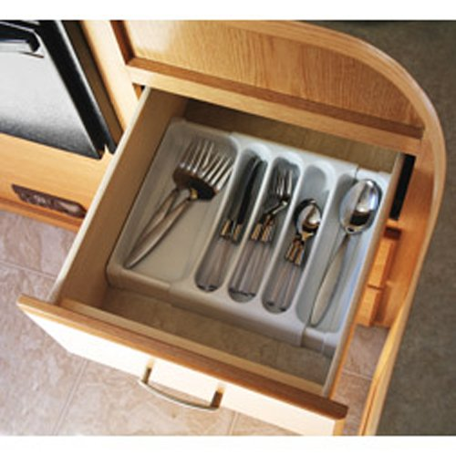 Camco 43503 Adjustable Cutlery Tray (White) (Rv Camping Supplies compare prices)