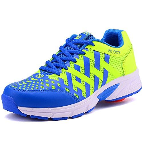 Vilocy Unisex-Kinder Sneakers Rotelle Scarpe (blue, 42)