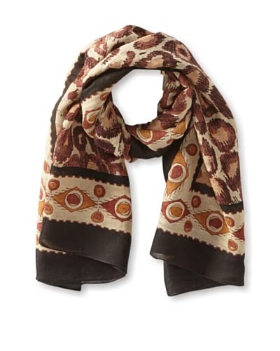 Theodora & Callum Women's Manasa Scarf, Brown Multi
