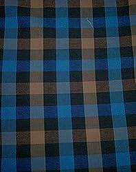 Indian Fabtex Men's Shirt Checkered Unstitched Fabrics(VTM-121-06_Multicolor)