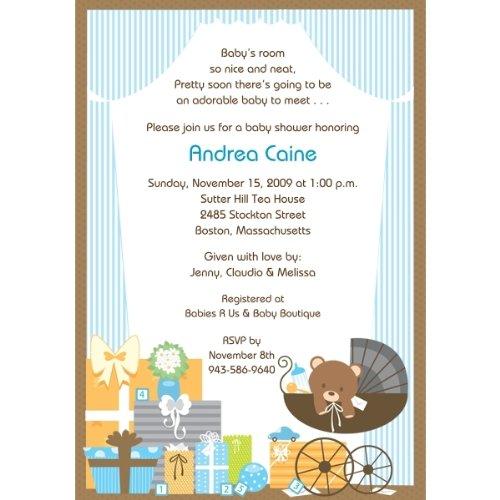 Baby's Room - Boy Baby Shower Invitations - Set of 20