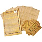 10 Blank Egyptian Papyrus Sheets for Art Projects and Schools 6x8 Inch (15x20 Cm)