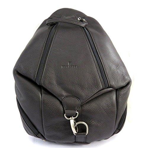 Bag torna in pelle 'Hexagona'marrone scuro.
