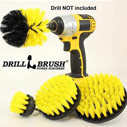 Nylon Power Brush Tile and Grout Bathroom Cleaning Scrub Brush Kit (Power Grout Cleaning Brush compare prices)