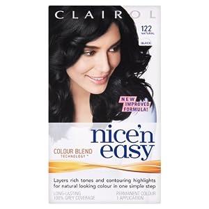 Clairol Nice'n Easy Permanent Hair Colour - 122 Natural Black