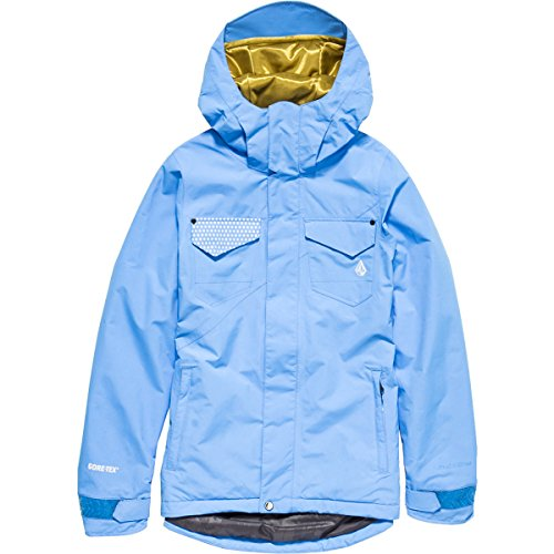 Volcom Juniors Decca Gore-Tex 2L INS Jacket, Glacier Blue, Small