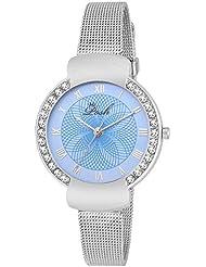 Posh Designer Round Blue Dial Analog Wrist Watch For Girls And Women