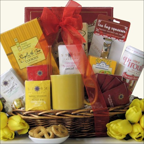 Great Arrivals Gourmet Tea Gift Basket, Tea Treasures Medium