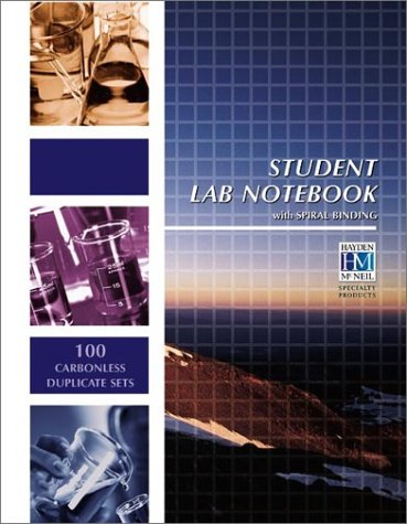 Student Lab Notebook: 100 Spiral Bound duplicate pages