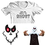 Ask me about my Ghost Kids Funny Flip Tee T-Shirt All Sizes