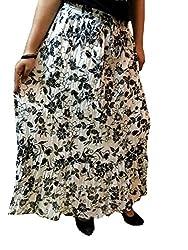 Cotton Breeze Womens Cotton Long Skirt (FP346, Black)