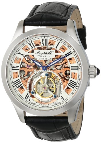 Ingersoll-Mens-IN5102SRG-Golden-Spike-Tourbillon-Analog-Display-Mechanical-Hand-Wind-Black-Watch