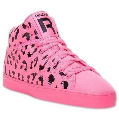reebok mens t raww neon pink black midtop