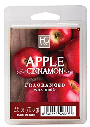 Hosley's Apple Cinnamon Scented Wax Cubes / Melts - 2.5 oz . Hand poured wax infused with essential oils (Wax Melt Candle Warmer compare prices)