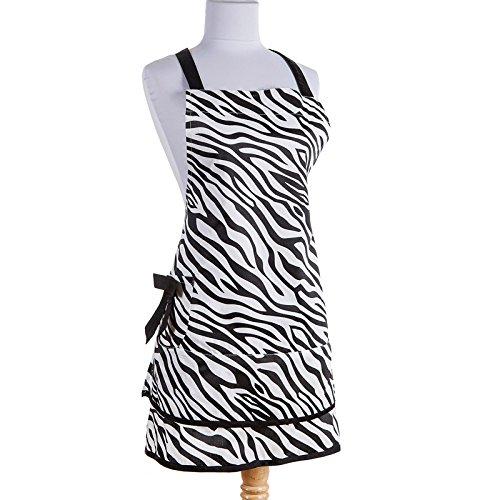 Zebra print kitchen linen set includes apron and oven mitt for Zebra kitchen set