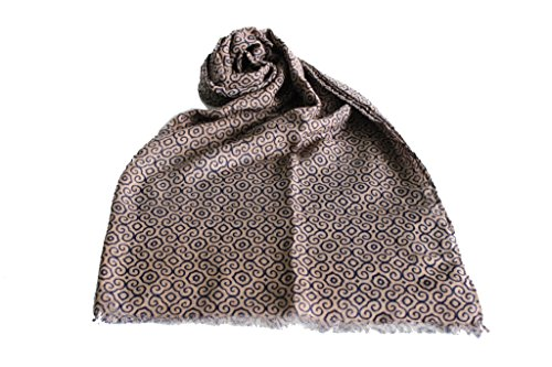 Sciarpa donna Lancetti pashmina l.fantasia 9251 sabbia moda italiana