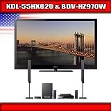 "Sony KDL-55HX820 - 55"" BRAVIA 3D LED-backlit LCD TV + Sony BDV-HZ970W - 5.1 ...."
