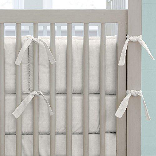Carousel Designs Ivory Linen Crib Bumper (Linen Crib Bumper compare prices)