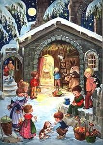 Nativity with Children German Christmas Advent Calendar from Sellmer Verlag