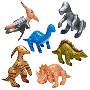 Jumbo Inflatable Dinosaurs ( 6 count)