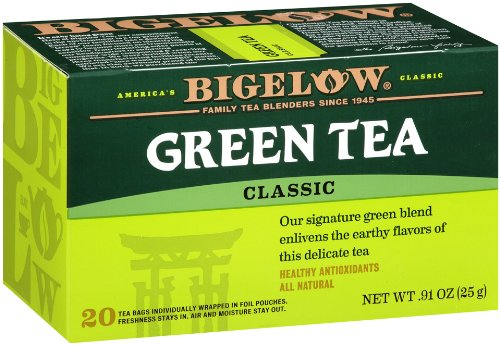 Bigelow Green Tea, 20-Count Boxes (Pack Of 6) front-478861