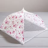 """12"""" SQUARE FLORAL NET CAKE COVER"""