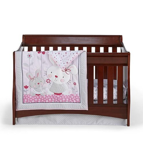 Cuddletime Bella Bunny 3 Piece Crib Bedding Set - 1