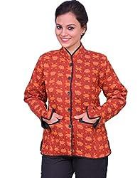 Chhipa Women Hand Printed Red Jacket(1028_Red_40)