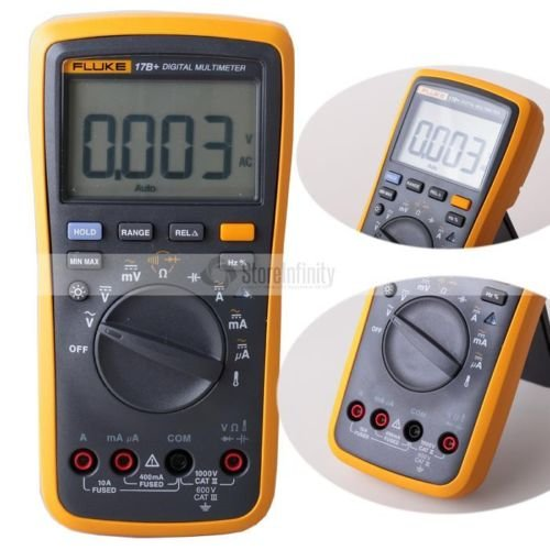 Frequency Measuring Tools : Fluke b digital multimeter w temperature frequency