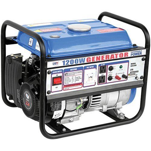 UST GG1200 1,200 Watt 2.4 HP 79.5cc 4-Stroke OHV Portable Gas Powered Generator
