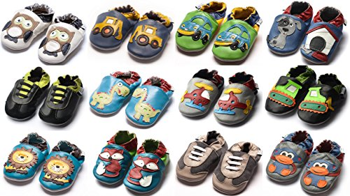 Jinwood designed by amsomo, Stivaletti bambini, Multicolore (lion blue soft sole), 26/27 EU