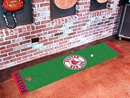 MLB Boston Red Sox Golf Practice Putting Green Rug Runner 18\