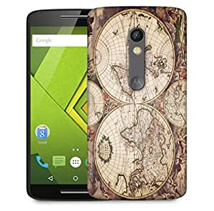 Snoogg World Map Designer Protective Back Case Cover For Motorola Moto X Play