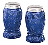 Miles Kimball Cobalt Blue Depression Style Glass Salt and Pepper Shakers