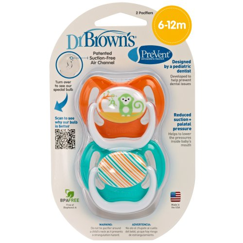Dr. Brown'S Prevent Design Pacifier, Neutral, Stage 2, 6-12 Months