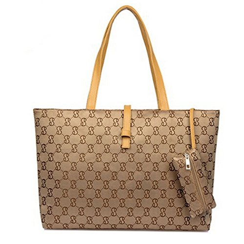 D.jiani® Tessitura cintura pendolari fibbia grande borsa tracolla portatile selvaggio (cachi)